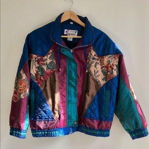 Vintage Embroidered Windbreaker/ Bomber Jacket